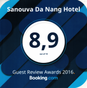 Guest Review Award winner 2016 by Booking.com